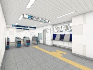 仲御徒町駅の中央改札②(東京メトロ提供)