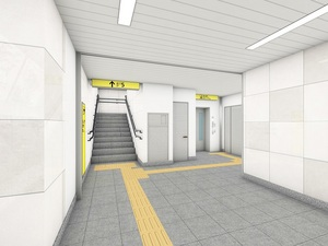 仲御徒町駅中央改札(東京メトロ提供)