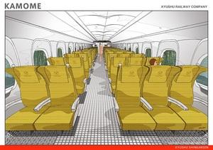 九州新幹線N700A〈かもめ〉自由席のインテリア(提供:九州旅客鉄道)